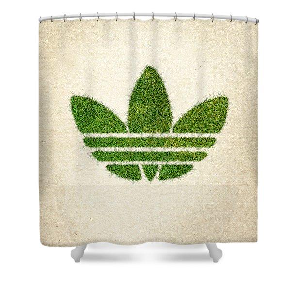 Adidas Grass Logo Shower Curtain