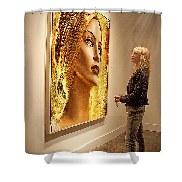 Admiring Beauty Shower Curtain