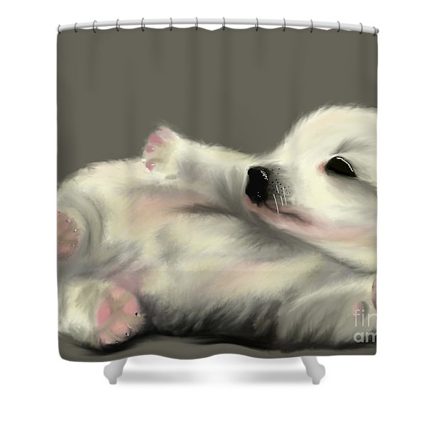 Adorable Pup Shower Curtain