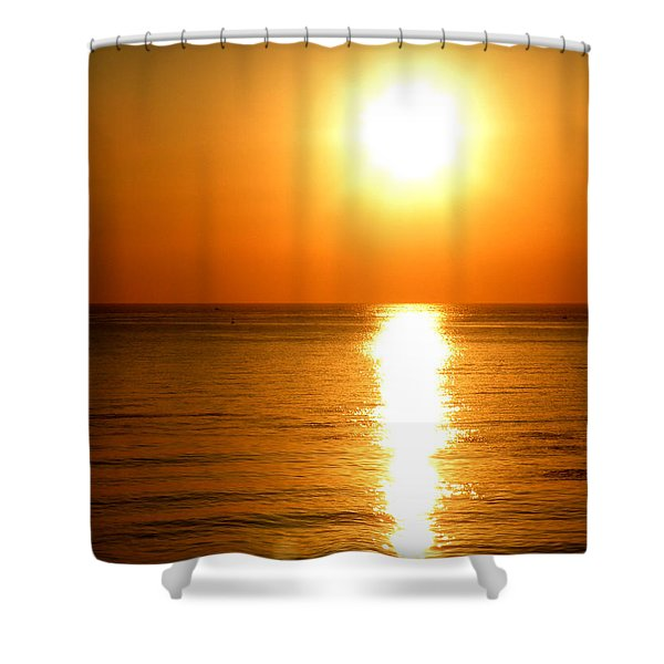 Aegean Sunset Shower Curtain