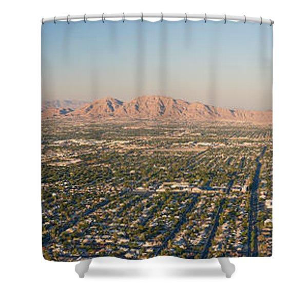Aerial View Of Las Vegas Shower Curtain