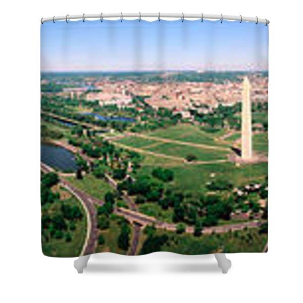 Aerial Washington Dc Usa Shower Curtain