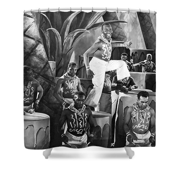 African American Musical Scene Shower Curtain