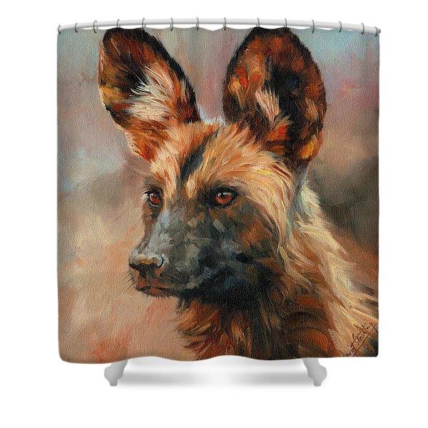African Wild Dog Shower Curtain
