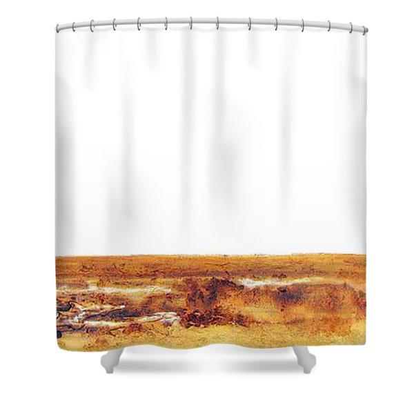Endangered African Wild Dog - Original Artwork Shower Curtain