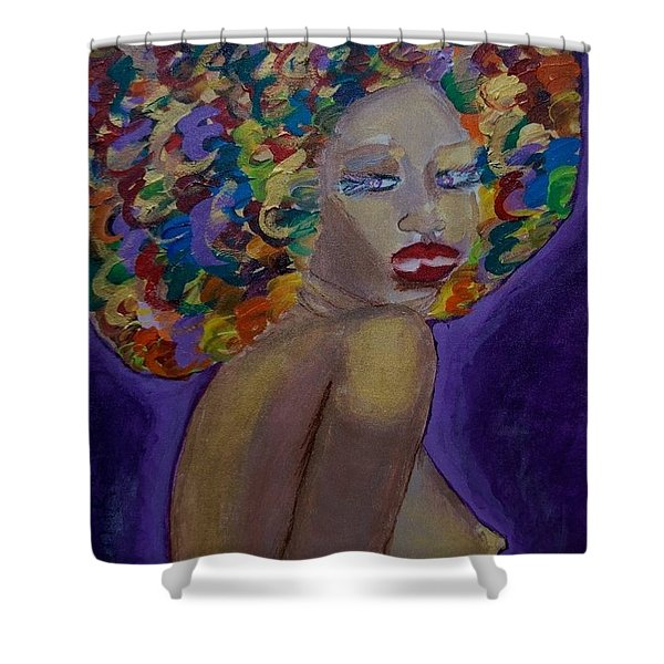Afro-chic Shower Curtain