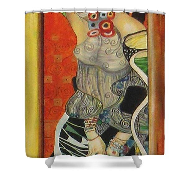 After Gustav Klimt Shower Curtain