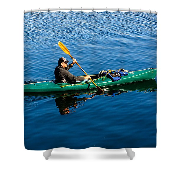 Afternoon Commute Shower Curtain