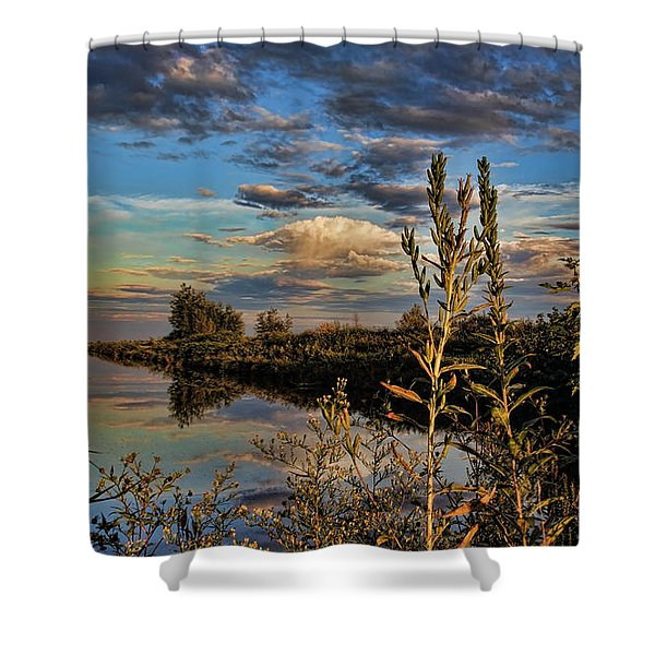Late Afternoon In The Mead Wildlife Area Shower Curtain