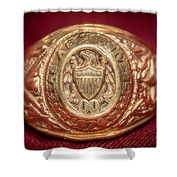 Aggie Ring Shower Curtain