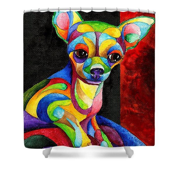 Ah Chihuahua Shower Curtain