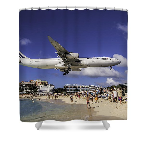 Air France St. Maarten Landing Shower Curtain