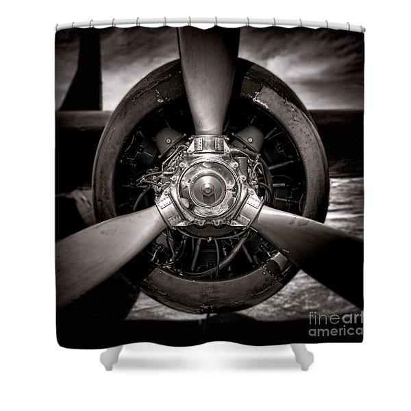Air Power Shower Curtain