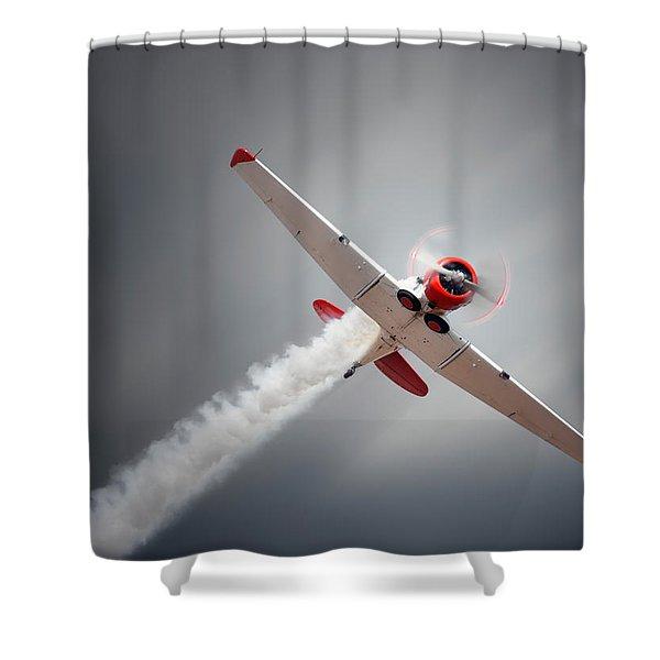 Aircraft In Flight Shower Curtain