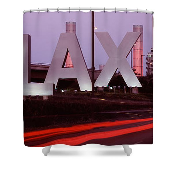 Airport At Dusk, Los Angeles Shower Curtain