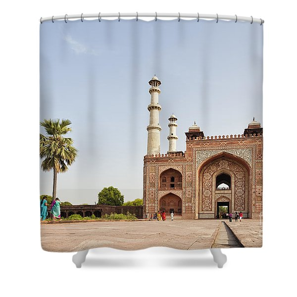 Akbar's Tomb In  India Shower Curtain