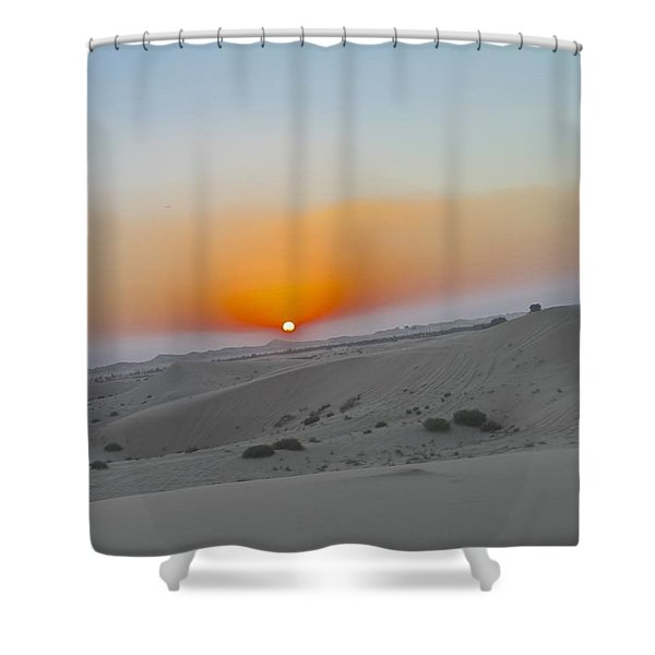 Al Ain Desert 12 Shower Curtain