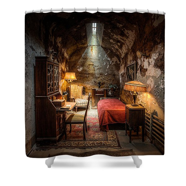 Al Capone's Cell - Historical Ruins At Eastern State Penitentiary - Gary Heller Shower Curtain