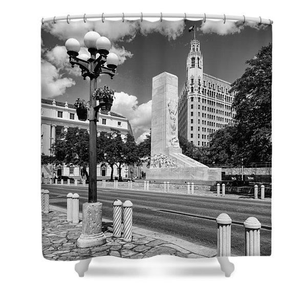 Alamo Memorial And Emily Morgan Hotel - San Antonio Texas Shower Curtain