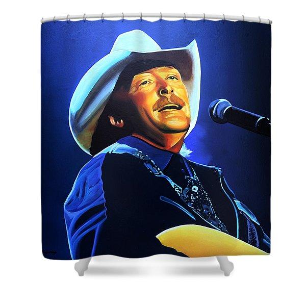 Alan Jackson Painting Shower Curtain