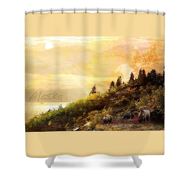 Alaska Montage Shower Curtain