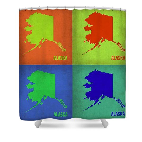 Alaska Pop Art Map 1 Shower Curtain