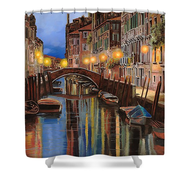 alba a Venezia  Shower Curtain