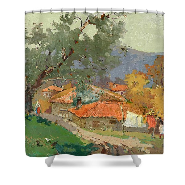 Albanian Countryside Shower Curtain