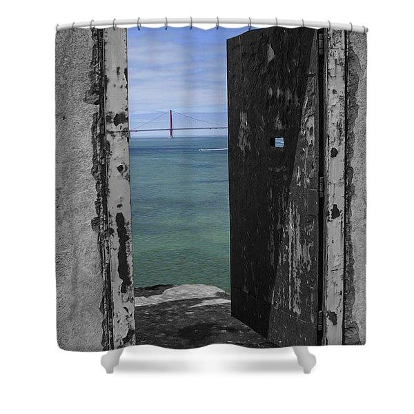 Alcatraz -the Rock Shower Curtain