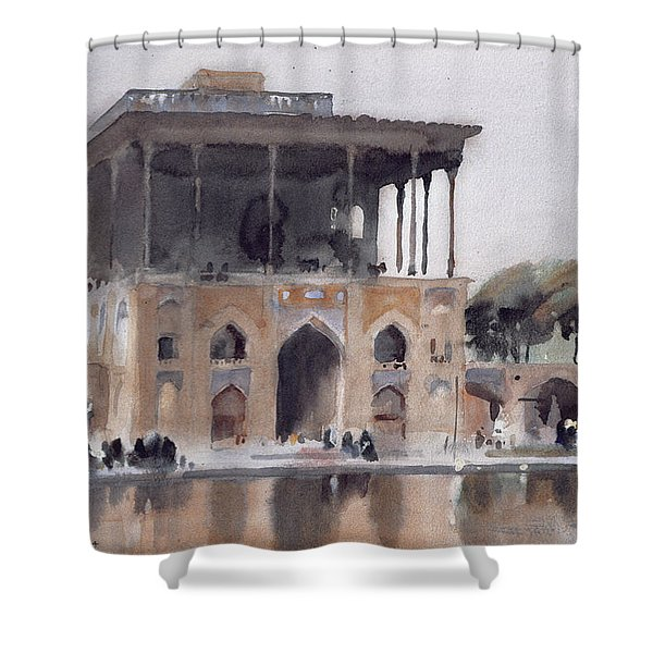Ali Qapu Palace, Isfahan, 1994 Wc On Paper Shower Curtain