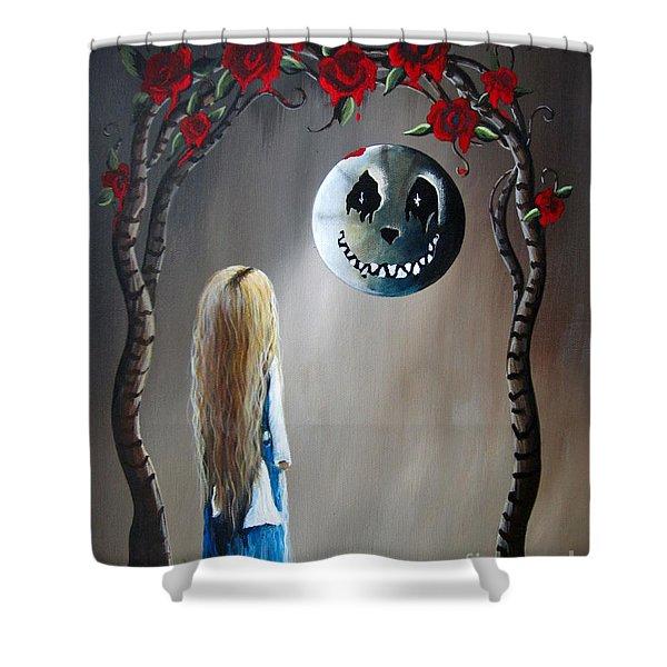 Alice In Wonderland Original Artwork - Alice And The Beautiful Nightmare Shower Curtain