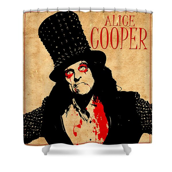 Alice Cooper 1 Shower Curtain