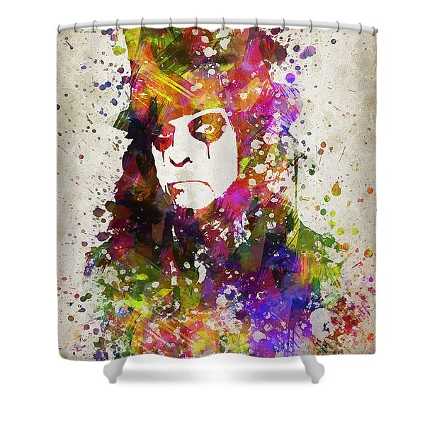 Alice Cooper In Color Shower Curtain