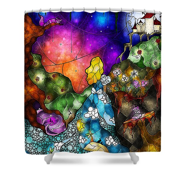 Alice's Wonderland Shower Curtain