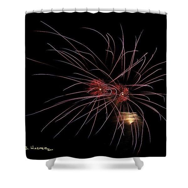 Alien Eyes - Fireworks At St Albans Bay Shower Curtain