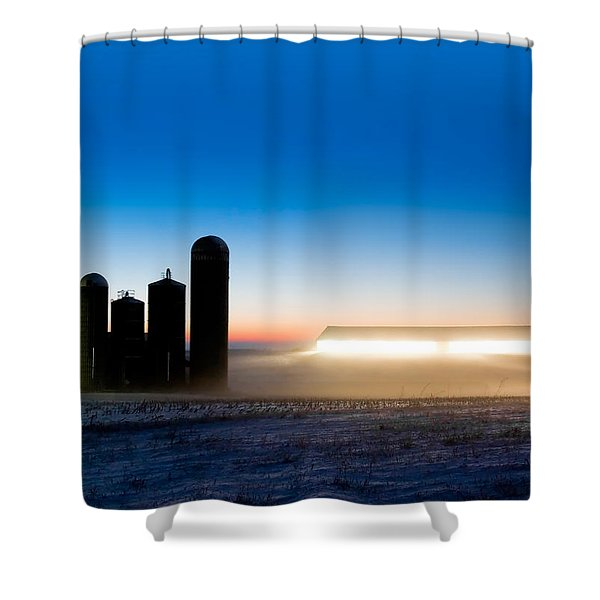 Alien Twilight Shower Curtain