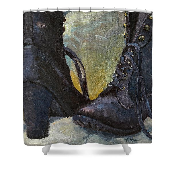 Ali's Boots Shower Curtain