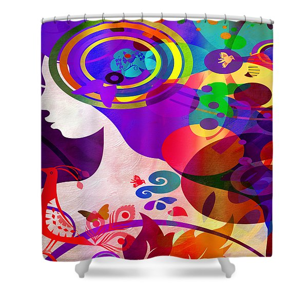 All Her Wonder 2 Shower Curtain