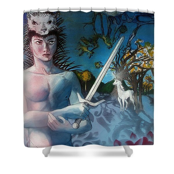 All I Need Is A Unicorn  Shower Curtain