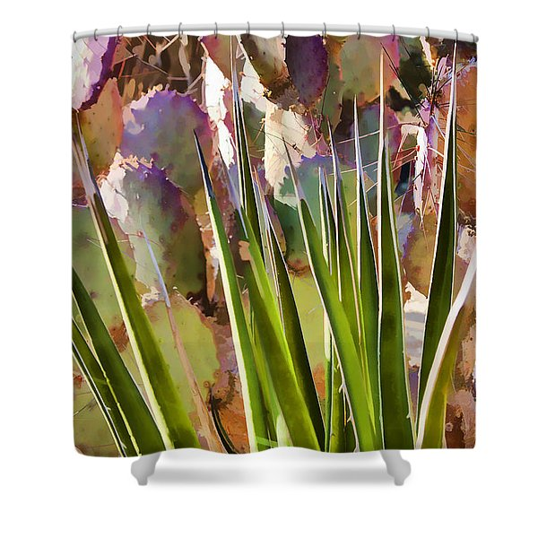 All Pointy And Sharp Shower Curtain