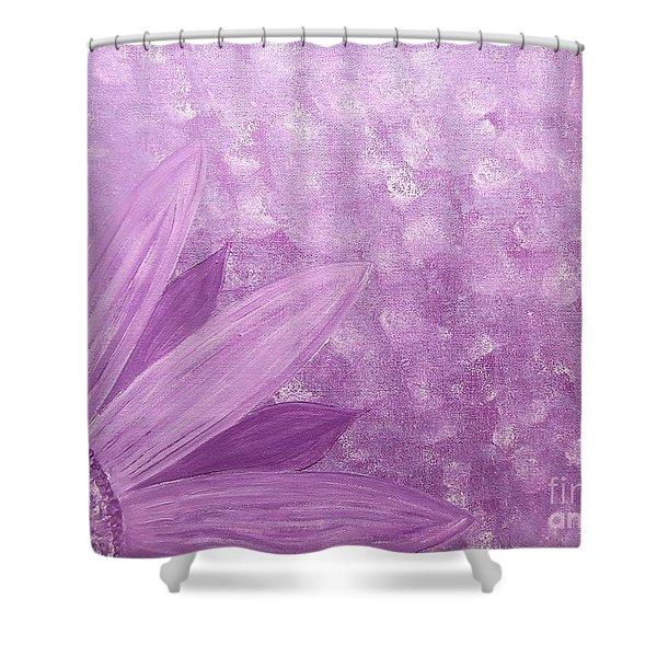 All Purple Flower Shower Curtain