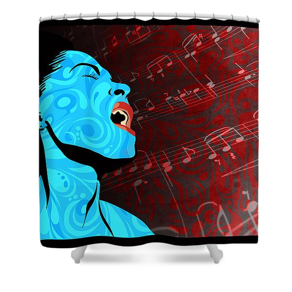 Shower Curtain featuring the painting All That Jazz by Sassan Filsoof