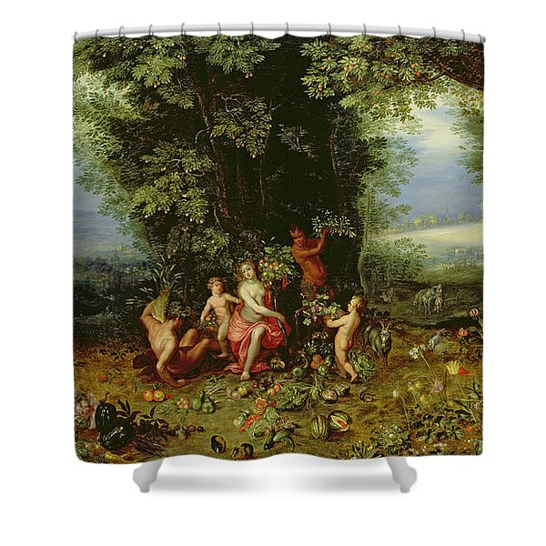 Allegory Of The Earth Shower Curtain