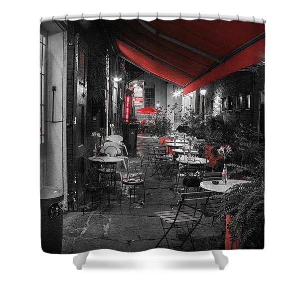 Alley Cafe Shower Curtain