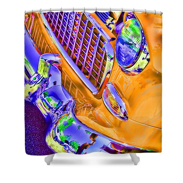 Alley Cat 3 Big Yellow Taxi Shower Curtain