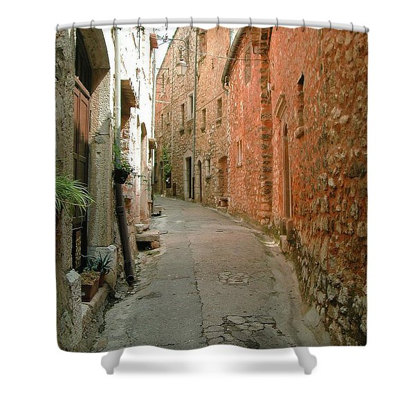 Alley In Tourrette-sur-loup Shower Curtain
