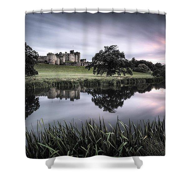 Alnwick Castle Sunset Shower Curtain