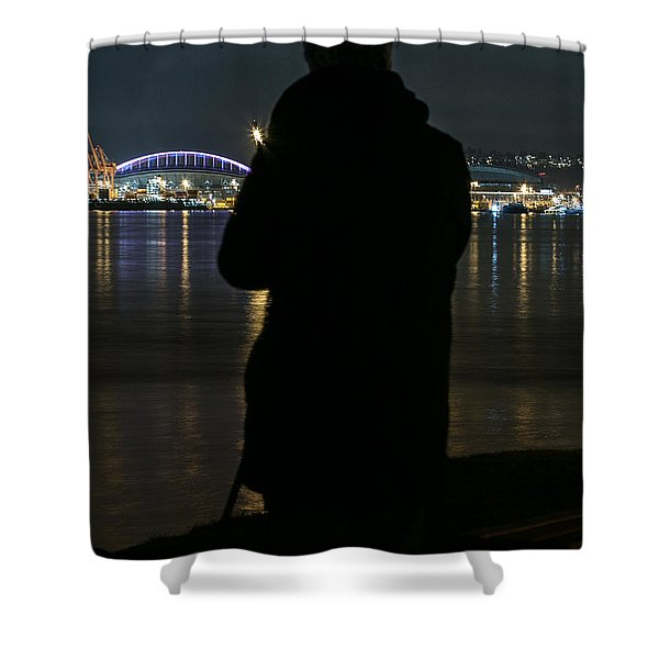 Alone On The Shore Shower Curtain