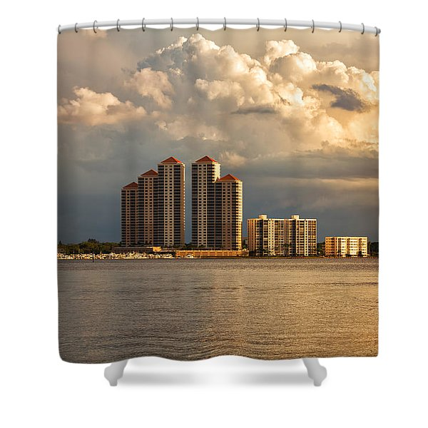 Along The Caloosahatchee River Shower Curtain