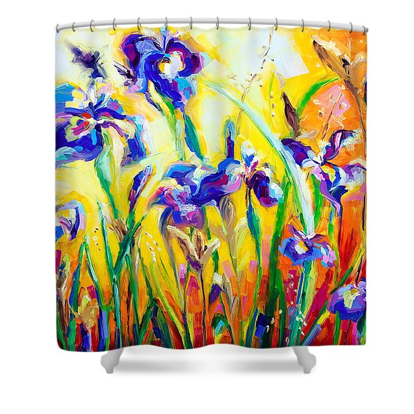 Alpha and Omega Shower Curtain by Talya Johnson